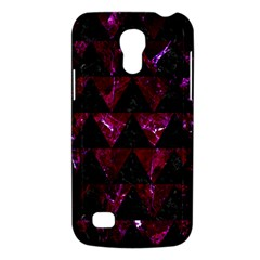 Triangle2 Black Marble & Burgundy Marble Galaxy S4 Mini by trendistuff
