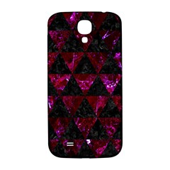 Triangle3 Black Marble & Burgundy Marble Samsung Galaxy S4 I9500/i9505  Hardshell Back Case by trendistuff