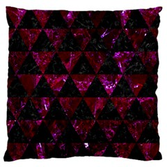 Triangle3 Black Marble & Burgundy Marble Standard Flano Cushion Case (one Side) by trendistuff
