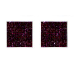 Woven1 Black Marble & Burgundy Marble Cufflinks (square) by trendistuff