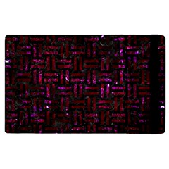 Woven1 Black Marble & Burgundy Marble Apple Ipad 3/4 Flip Case by trendistuff