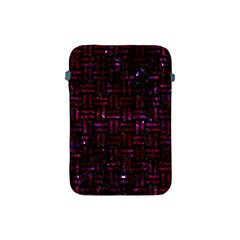 Woven1 Black Marble & Burgundy Marble Apple Ipad Mini Protective Soft Cases by trendistuff