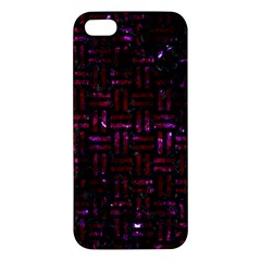 Woven1 Black Marble & Burgundy Marble Iphone 5s/ Se Premium Hardshell Case by trendistuff