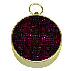 Woven1 Black Marble & Burgundy Marble Gold Compasses by trendistuff