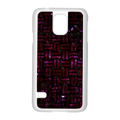 Woven1 Black Marble & Burgundy Marble Samsung Galaxy S5 Case (white) by trendistuff