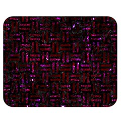 Woven1 Black Marble & Burgundy Marble Double Sided Flano Blanket (medium)  by trendistuff