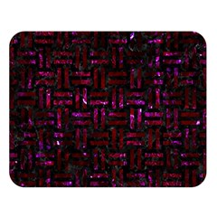 Woven1 Black Marble & Burgundy Marble Double Sided Flano Blanket (large)  by trendistuff