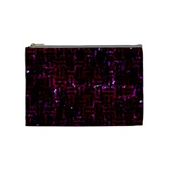 Woven1 Black Marble & Burgundy Marble (r) Cosmetic Bag (medium)  by trendistuff