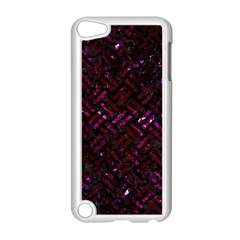 Woven2 Black Marble & Burgundy Marble Apple Ipod Touch 5 Case (white) by trendistuff