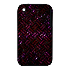 Woven2 Black Marble & Burgundy Marble Iphone 3s/3gs by trendistuff