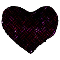 Woven2 Black Marble & Burgundy Marble Large 19  Premium Heart Shape Cushions by trendistuff