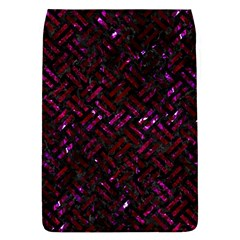 Woven2 Black Marble & Burgundy Marble Flap Covers (l)  by trendistuff