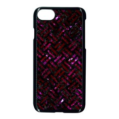 Woven2 Black Marble & Burgundy Marble Apple Iphone 7 Seamless Case (black) by trendistuff