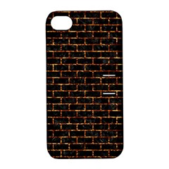 Brick1 Black Marble & Copper Foilper Foil Apple Iphone 4/4s Hardshell Case With Stand by trendistuff