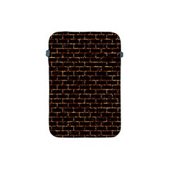Brick1 Black Marble & Copper Foilper Foil Apple Ipad Mini Protective Soft Cases by trendistuff