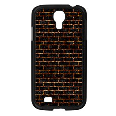 Brick1 Black Marble & Copper Foilper Foil Samsung Galaxy S4 I9500/ I9505 Case (black) by trendistuff