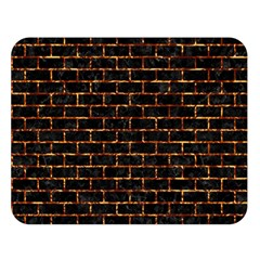 Brick1 Black Marble & Copper Foilper Foil Double Sided Flano Blanket (large)  by trendistuff
