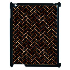 Brick2 Black Marble & Copper Foil Apple Ipad 2 Case (black) by trendistuff