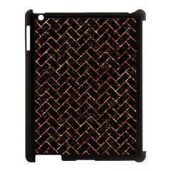 Brick2 Black Marble & Copper Foil Apple Ipad 3/4 Case (black) by trendistuff