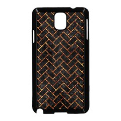 Brick2 Black Marble & Copper Foil Samsung Galaxy Note 3 Neo Hardshell Case (black) by trendistuff