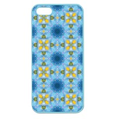 Blue Nice Daisy Flower Ang Yellow Squares Apple Seamless Iphone 5 Case (color) by MaryIllustrations