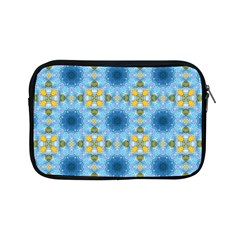 Blue Nice Daisy Flower Ang Yellow Squares Apple Ipad Mini Zipper Cases by MaryIllustrations