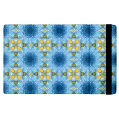 Blue Nice Daisy Flower Ang Yellow Squares Apple Ipad Pro 9 7   Flip Case by MaryIllustrations
