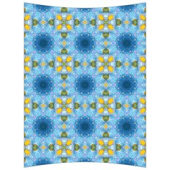 Blue Nice Daisy Flower Ang Yellow Squares Back Support Cushion