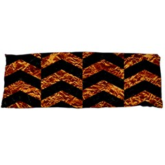 Chevron2 Black Marble & Copper Foil Body Pillow Case Dakimakura (two Sides) by trendistuff