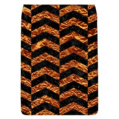 Chevron2 Black Marble & Copper Foil Flap Covers (l)  by trendistuff