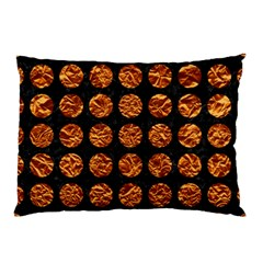 Circles1 Black Marble & Copper Foil Pillow Case (two Sides) by trendistuff