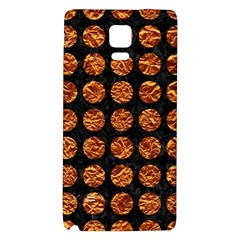 Circles1 Black Marble & Copper Foil Galaxy Note 4 Back Case by trendistuff