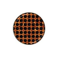 Circles1 Black Marble & Copper Foil (r) Hat Clip Ball Marker (10 Pack) by trendistuff