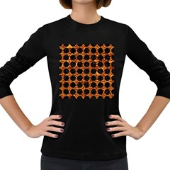 Circles1 Black Marble & Copper Foil (r) Women s Long Sleeve Dark T Shirts by trendistuff