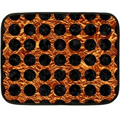 Circles1 Black Marble & Copper Foil (r) Double Sided Fleece Blanket (mini)  by trendistuff