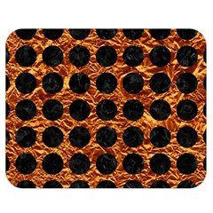 Circles1 Black Marble & Copper Foil (r) Double Sided Flano Blanket (medium)  by trendistuff