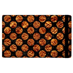 Circles2 Black Marble & Copper Foil Apple Ipad 3/4 Flip Case by trendistuff