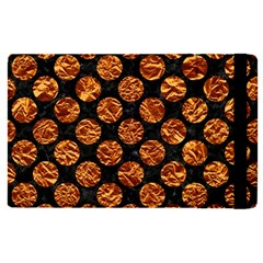 Circles2 Black Marble & Copper Foil Apple Ipad Pro 12 9   Flip Case by trendistuff