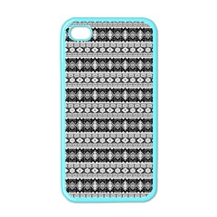 Fancy Tribal Border Pattern 17b Apple Iphone 4 Case (color) by MoreColorsinLife