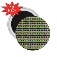 Fancy Tribal Border Pattern 17a 2 25  Magnets (10 Pack)  by MoreColorsinLife