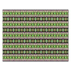 Fancy Tribal Border Pattern 17a Rectangular Jigsaw Puzzl by MoreColorsinLife