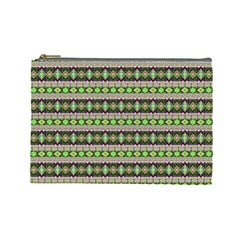 Fancy Tribal Border Pattern 17a Cosmetic Bag (large)  by MoreColorsinLife