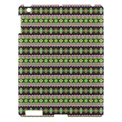 Fancy Tribal Border Pattern 17a Apple Ipad 3/4 Hardshell Case by MoreColorsinLife
