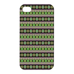 Fancy Tribal Border Pattern 17a Apple Iphone 4/4s Premium Hardshell Case by MoreColorsinLife