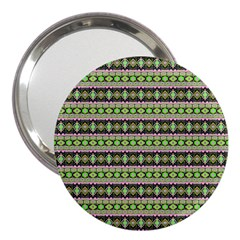 Fancy Tribal Border Pattern 17a 3  Handbag Mirrors by MoreColorsinLife