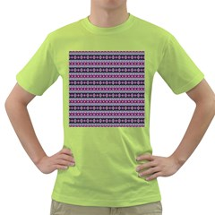 Fancy Tribal Border Pattern 17c Green T Shirt by MoreColorsinLife