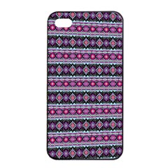 Fancy Tribal Border Pattern 17c Apple Iphone 4/4s Seamless Case (black) by MoreColorsinLife