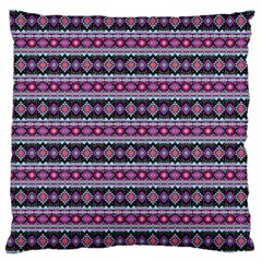 Fancy Tribal Border Pattern 17c Large Cushion Case (one Side) by MoreColorsinLife