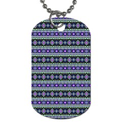 Fancy Tribal Border Pattern 17d Dog Tag (one Side) by MoreColorsinLife