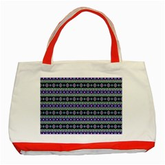 Fancy Tribal Border Pattern 17d Classic Tote Bag (red) by MoreColorsinLife